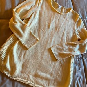 J Jill pale yellow sweater tunic M